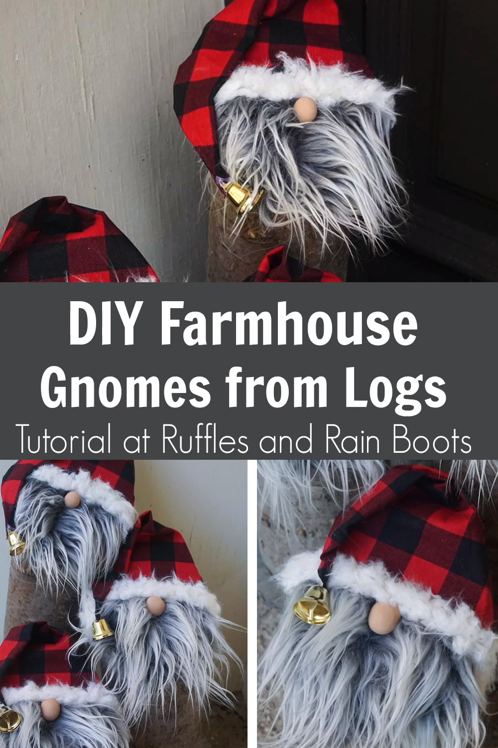 Photo of DIY Farmhouse Gnome from Logs