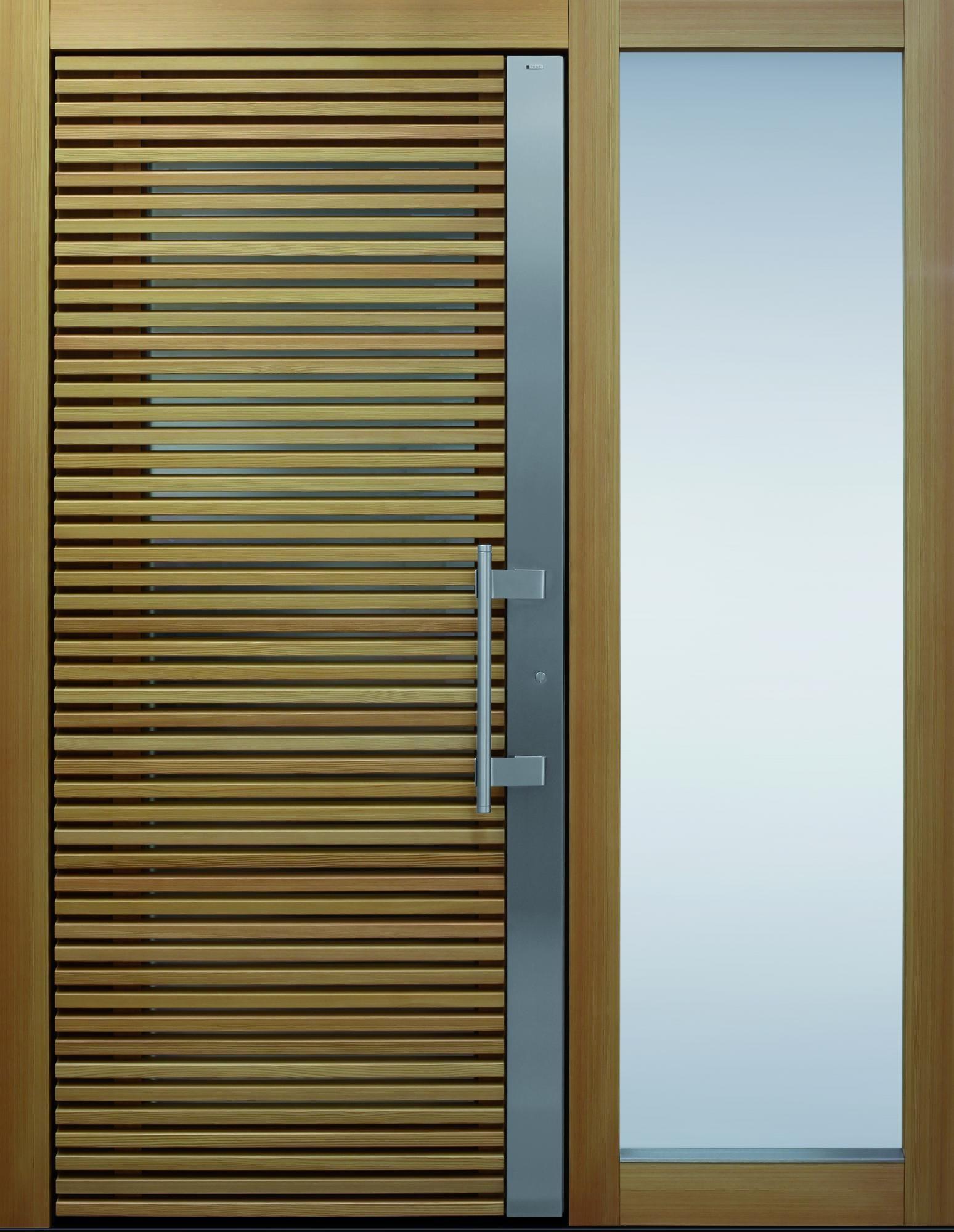 Haustüren mit seitenteil und briefkasten  TOPIC Haustür front door Current Daylight T3 Lärche geölt 1 mit ...