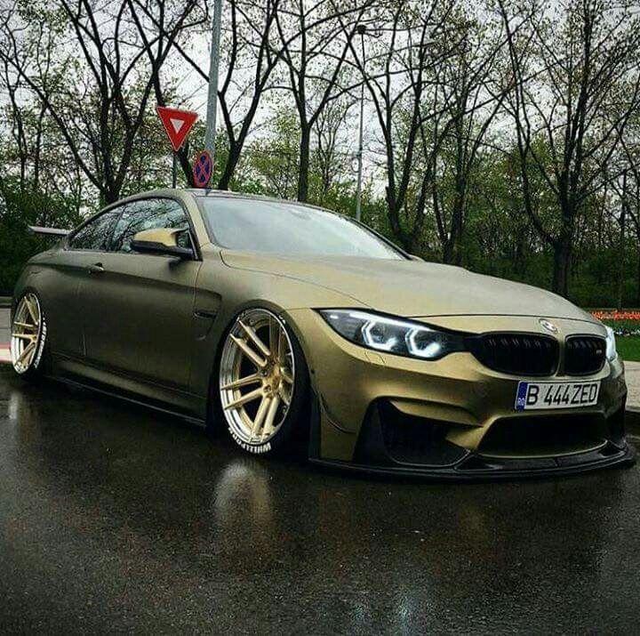 Bmw Z5 Toyota: BMW F82 M4 Matte Green Slammed