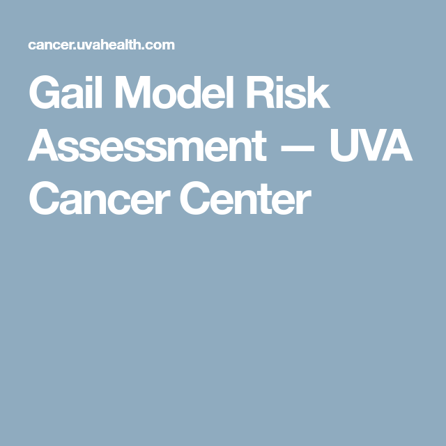 Gail Model Risk Assessment  Uva Cancer Center  Health Cancer