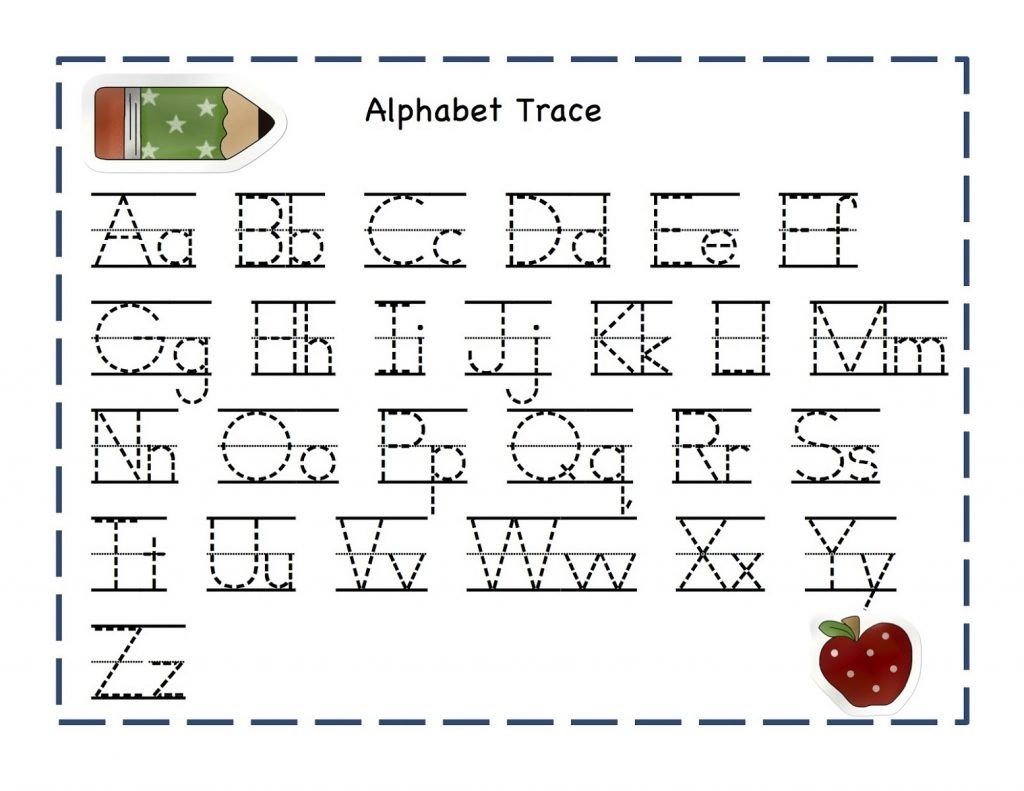 Free Abc Tracing Worksheets Alphabet A Z Upper And Lower Case 01