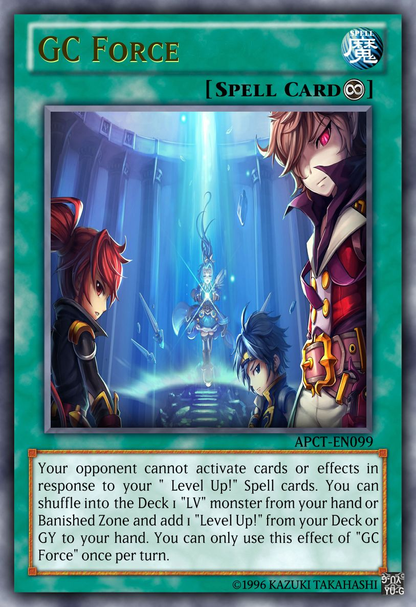 Gc force in 2020 yugioh anime cards