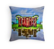 Reflections at the Princes Pier Throw Pillow