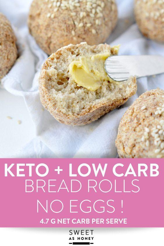 Keto Bread Rolls - Vegan + No Eggs - Sweetashoney