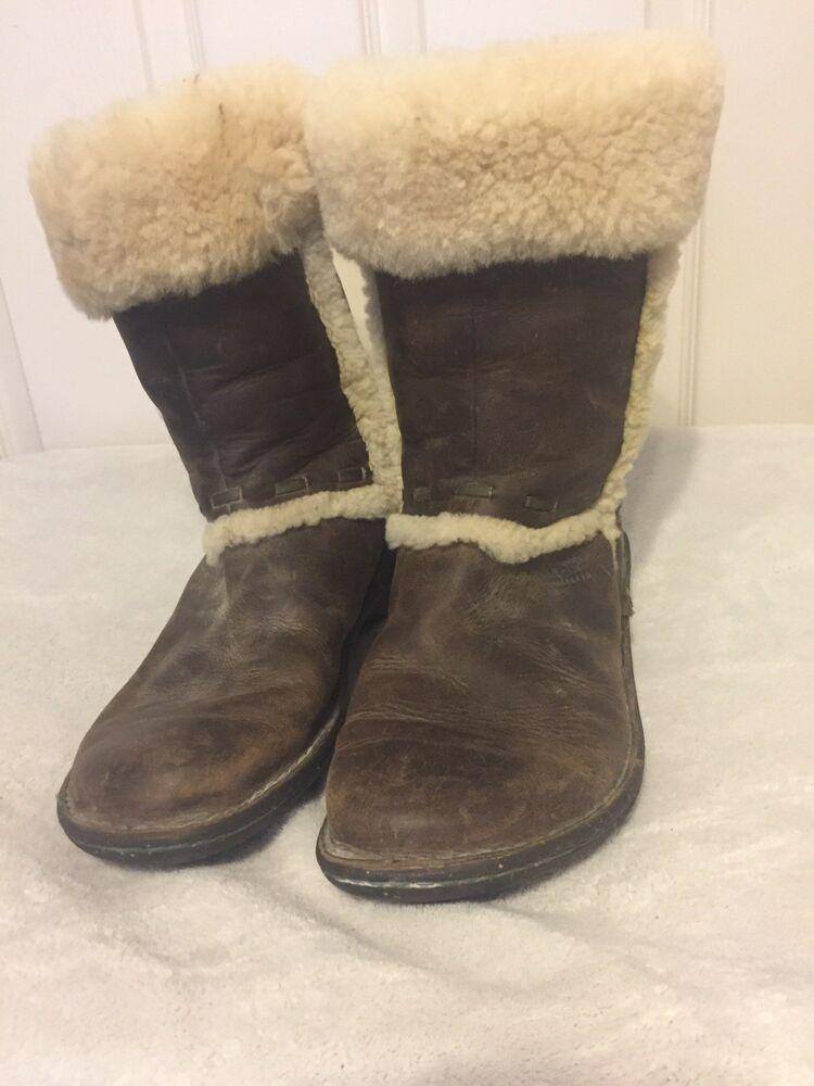 a6698cafaab Ugg White And Brown Austrailia Boots Womens Size 10 #fashion ...