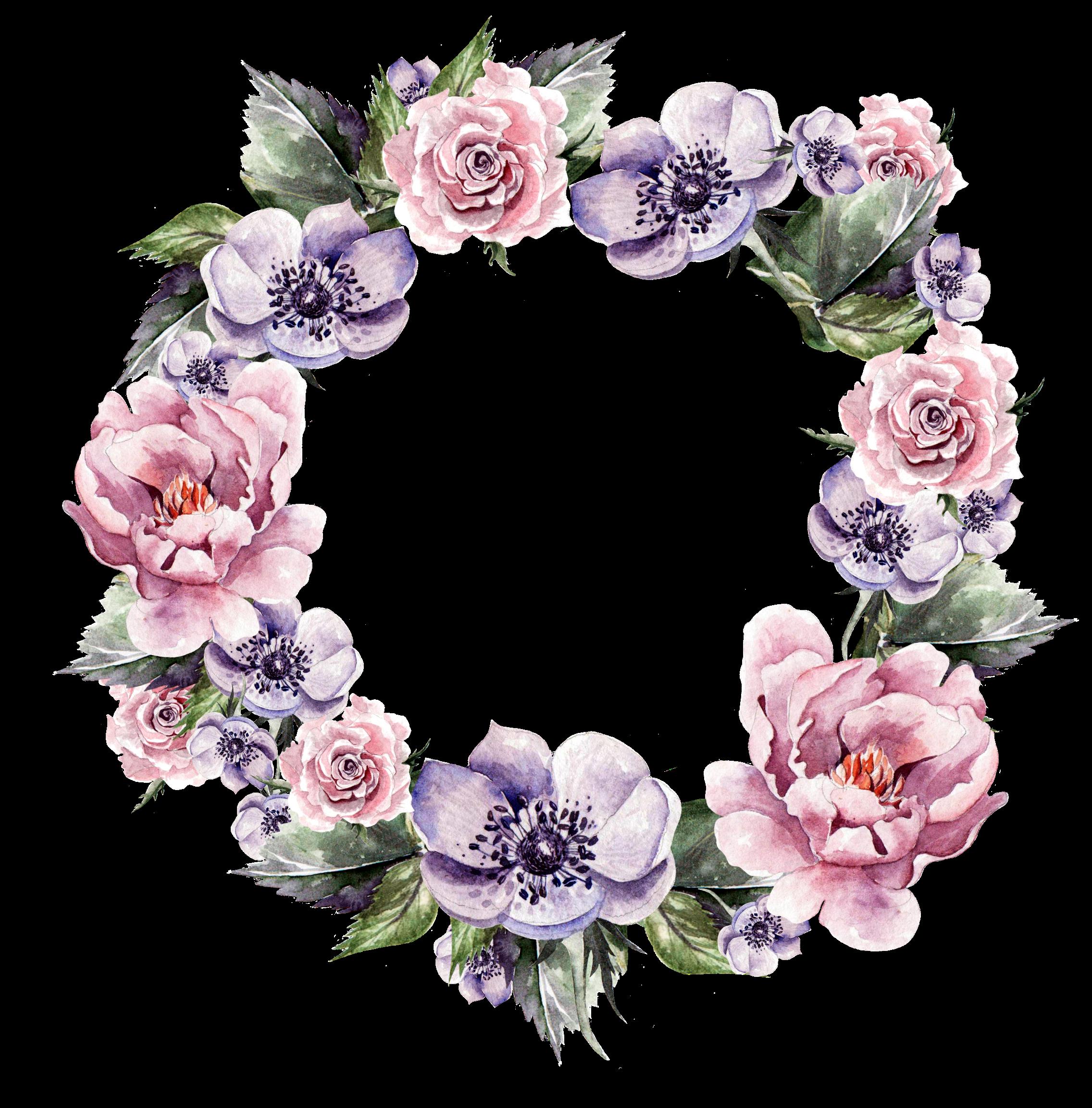 Pin By Modorova Svetlana On Venochki Watercolor Flower Wreath Wreath Watercolor Flower Painting