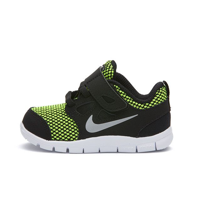 Nike Free 5.0 LE TDV Toddler Black Metallic Silver 7438ff56a