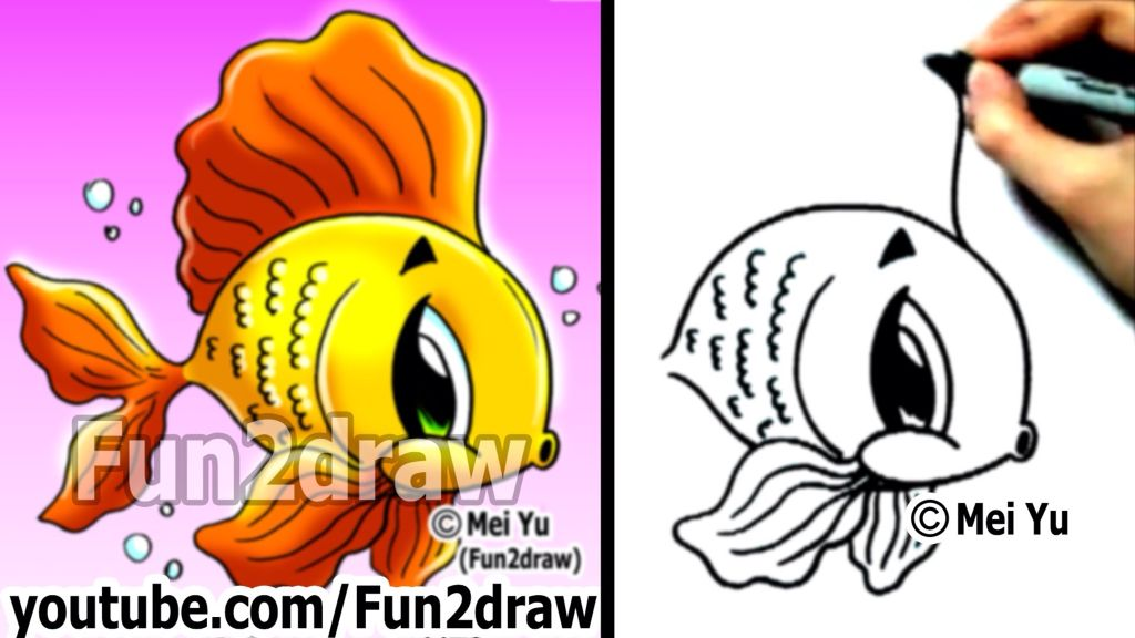 How To Draw A Fish Fun2draw Animal Drawings Cartoon Tutorial