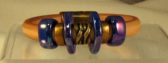 Natural leather with brass sliders by karensimmonsdesigns on Etsy, $55.00