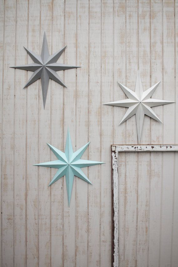 This Elegant And Rustic Metal Star Art Displays As A Lovely Piece