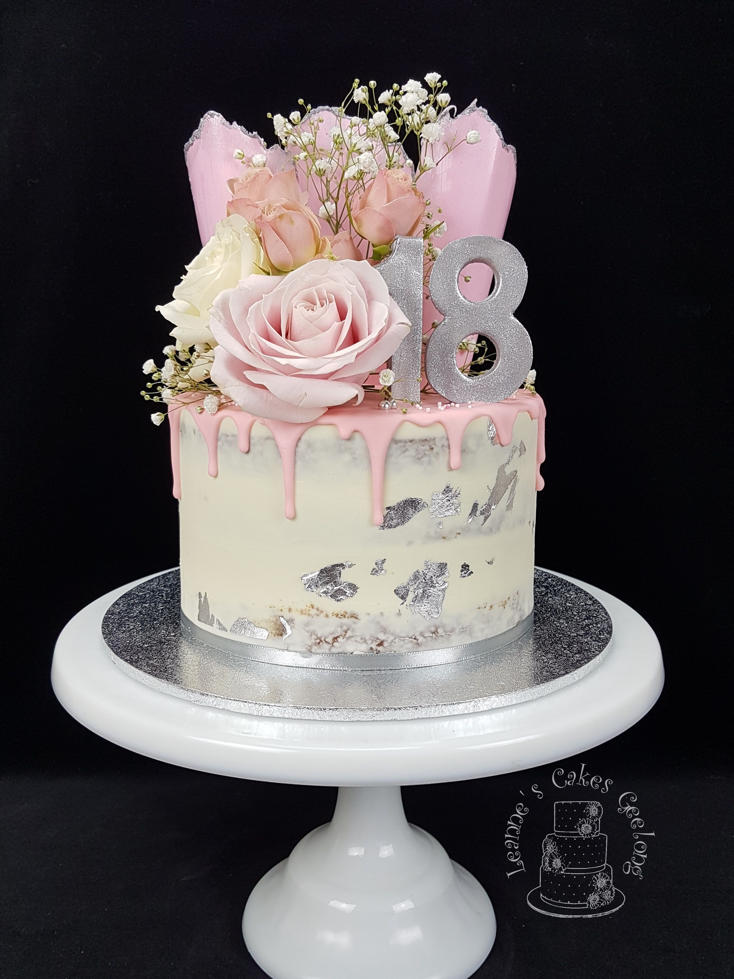 Pretty In Pink White And Silver For An 18th Birthday This Is