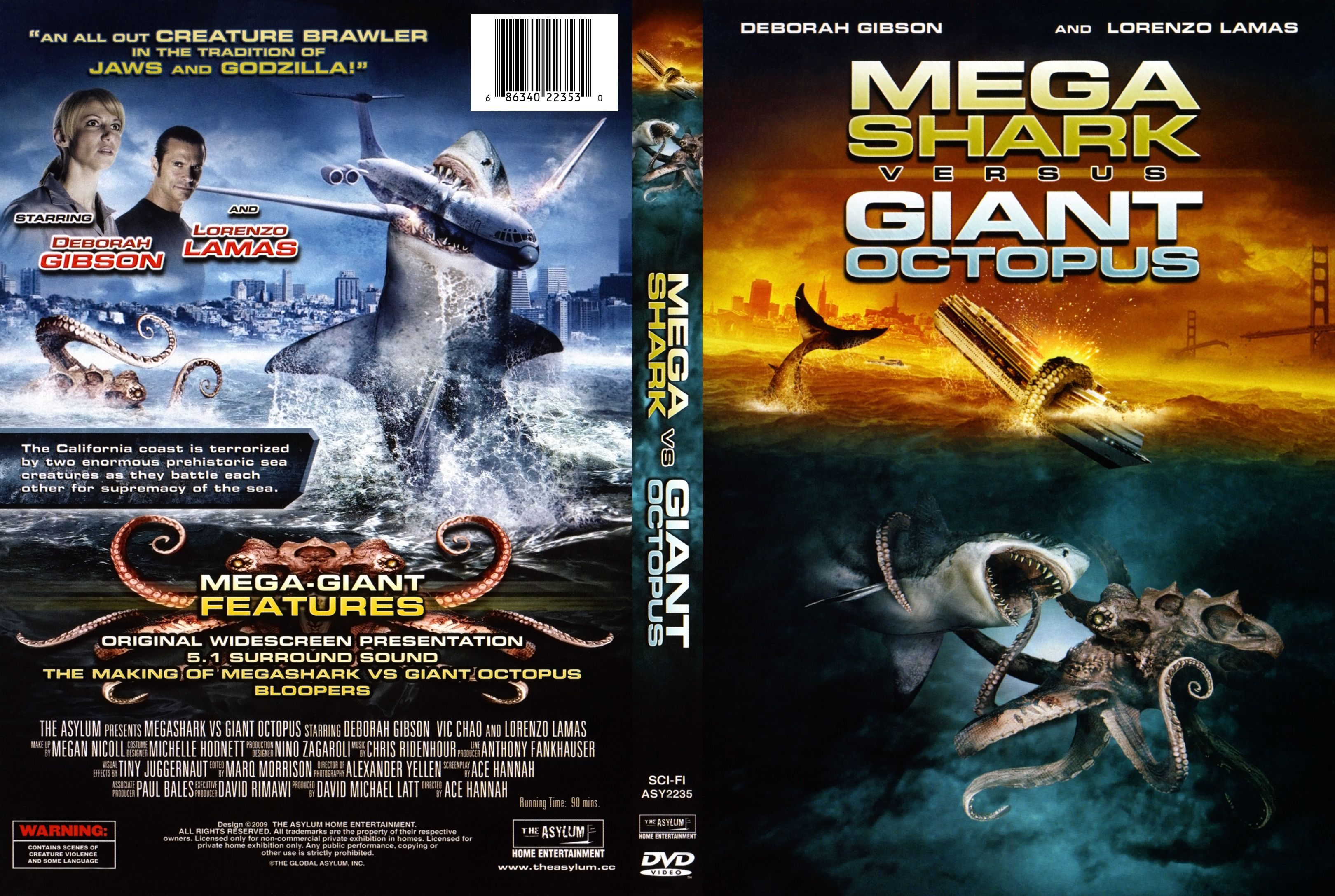 mega shark vs giant octopus movie poster | Mega shark vs ...