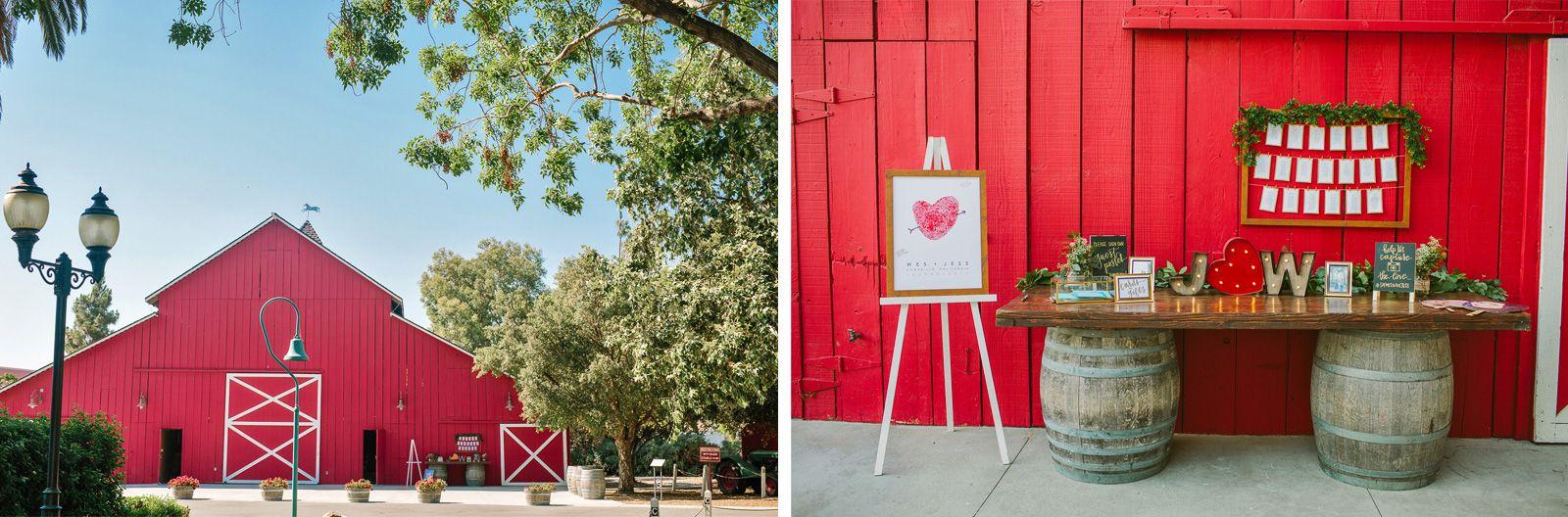 Camarillo ranch red barn reception details priscila