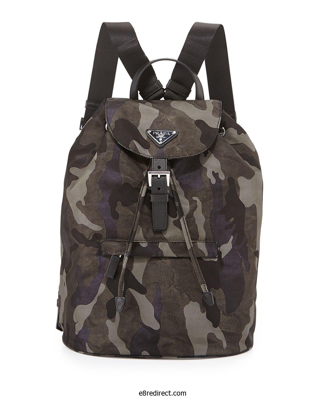 747402a732f3 Replica Prada Gray Tessuto Camouflage Backpack Bag - Pre-Fall 2014 ...