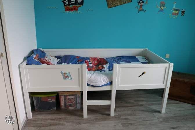 Lit enfant surélevé FLY Tootsie 190X90 blanc Ameublement Hérault - le bon coin toulouse location meuble