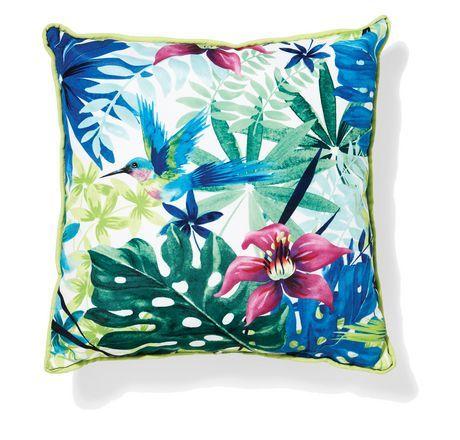 Tropical Flower Print Pillow Outdoor Fabric Walmart Ca