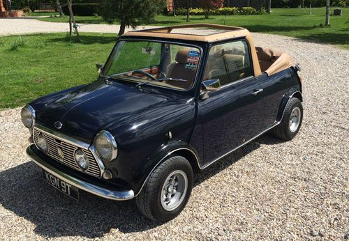 1970s Austin Mini convertible car on eBay