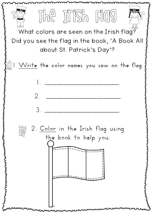 St Patricks Day Reading And Writing Worksheets 36 Pages