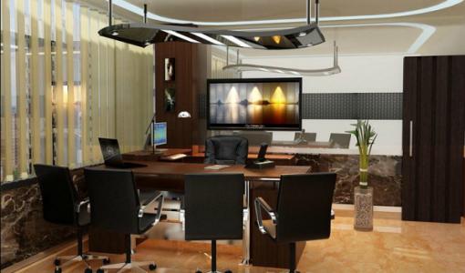 Elegance director room interior design for office amazing - Director office design ideas ...
