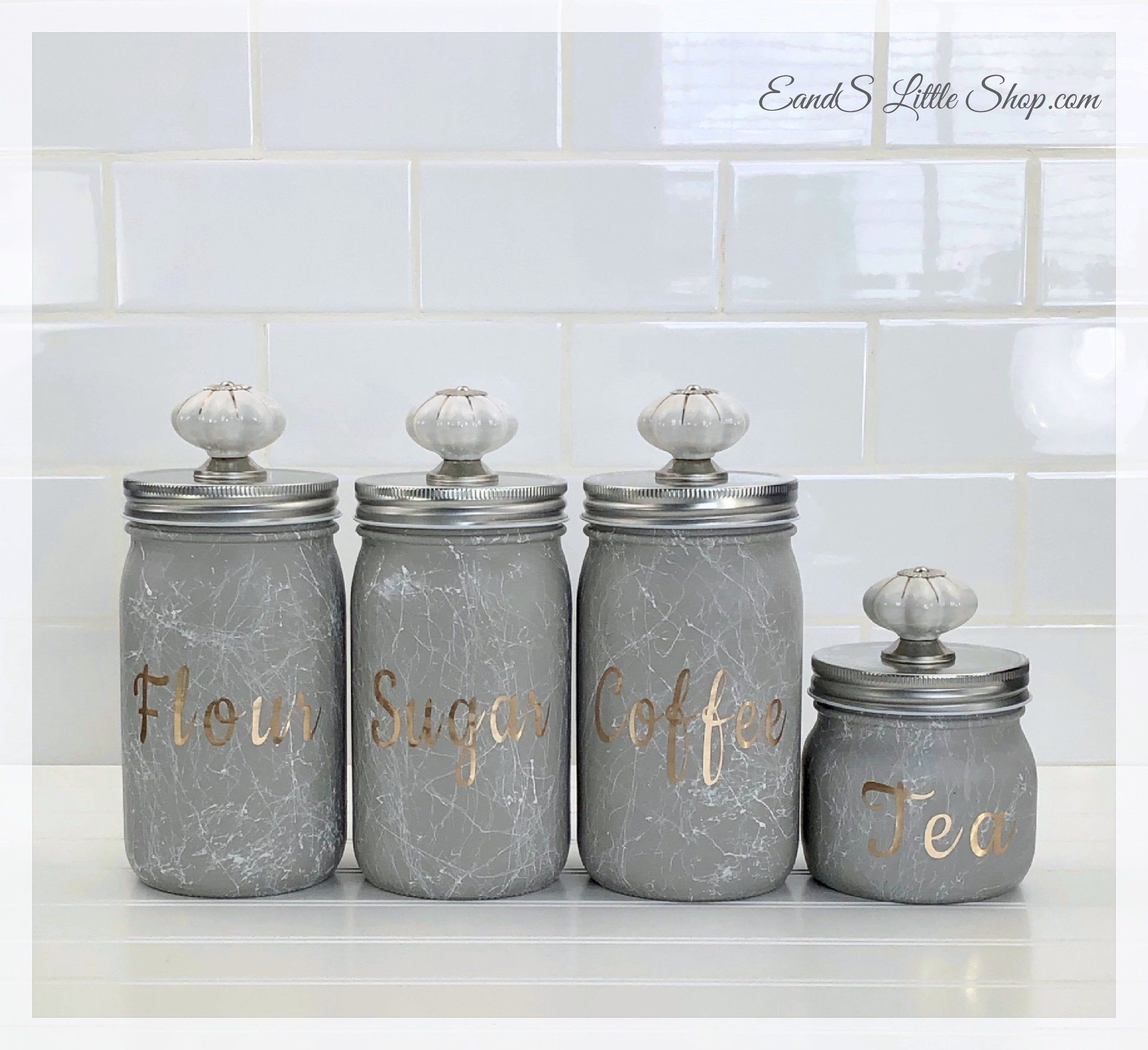 Your Place To Buy And Sell All Things Handmade Canister Sets Tea Coffee Sugar Canisters Pint Mason Jars
