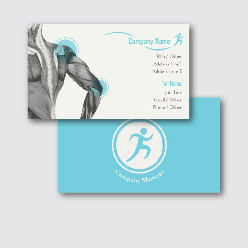 Standard Business Cards Templates Designs Vistaprint Cartao De Visita Fisioterapeuta Fisioterapia Fisioterapeuta