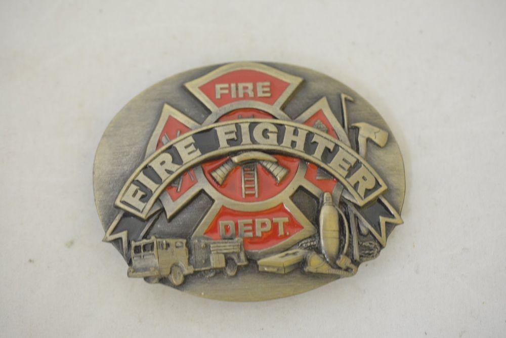 Fire Department Dept Logo Firefighter Fireman Truck Vintage Belt Buckle R 92