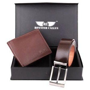 A gift for husband: Royster Callus Brown Combo Gift Set .