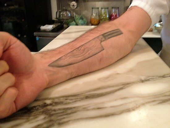 chef knife on right forearm | tattoo flash | pinterest | messer ... - Tattoos Für Köche