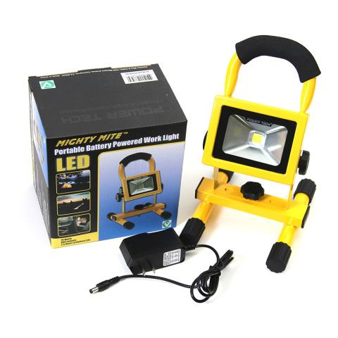 Http Cf T Com Product Century Pt554110 Power Tech Mighty Lite 10 Watt Rechargeable Lithium Ion Led Worklight Battery Powered Light Led Watt