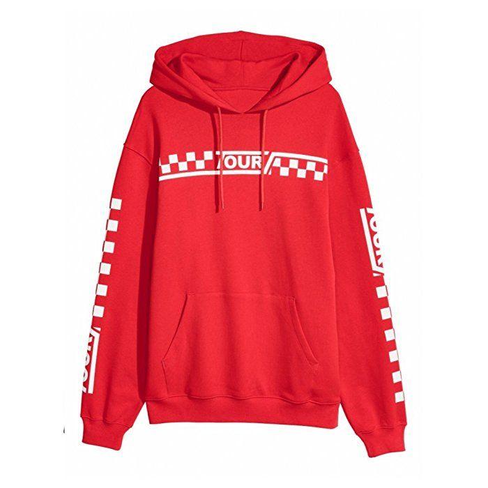 082b4ff15 PURPOSE TOUR STADIUM TOUR hoodie RED new Justin Bieber merch (small)  Amazon .co.uk  Clothing