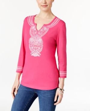 With Mastercard Free Shipping With Paypal Only Printed Long Sleeved Top Women Pink Clearance Factory Outlet Outlet Websites Footlocker Finishline Cheap Price Z7uni