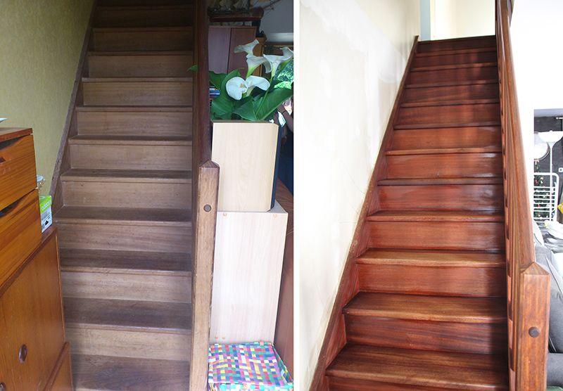 Escalier Nourri Huile De Lin Escalier Bois Escalier Huile De Lin Bois