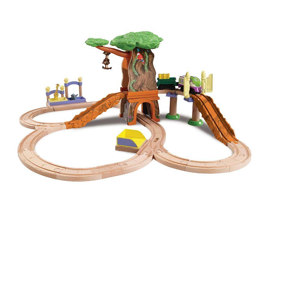Chuggington Wooden Railway Train Set Koko Safari Set