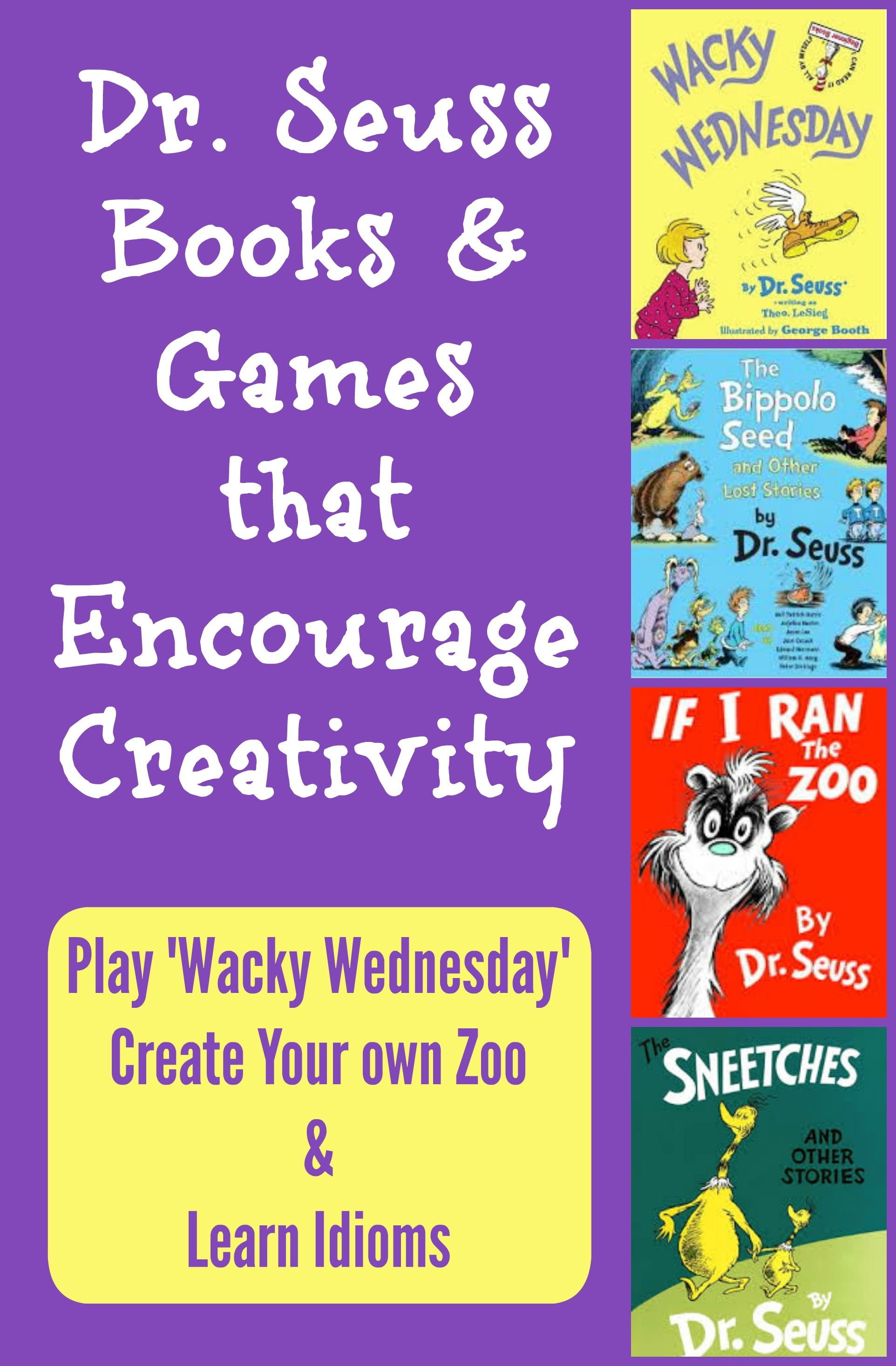 Dr Seuss Activities Wacky Wednesday Ideas Zoo Game Amp Idioms
