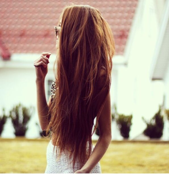 big brown hair with highlights