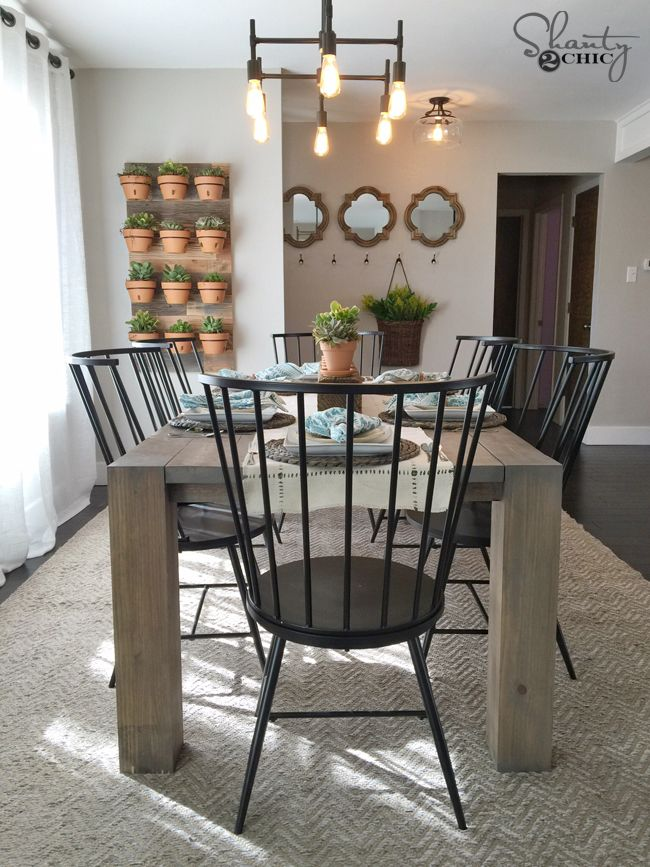 Diy Modern Farmhouse Table As Seen On Hgtv Open Concept Modern