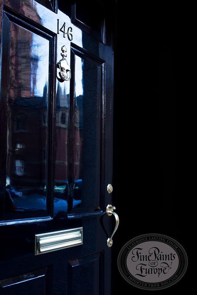 Fine Paints Of Europe High Gloss Front Door Black Front Door Hollandlac Brilliant Shiny Reflec Fine Paints Of Europe Painted Front Doors Black Front Doors