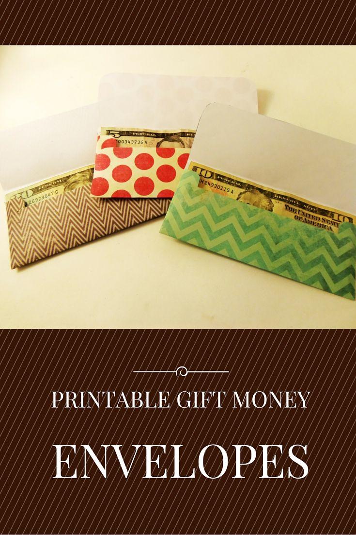 Gift Money Envelope Templates  Money Envelopes Gift Money And
