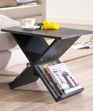 Look what I found on #zulily! Black Tic-Tac 'X' End Table by Furniture of America #zulilyfinds