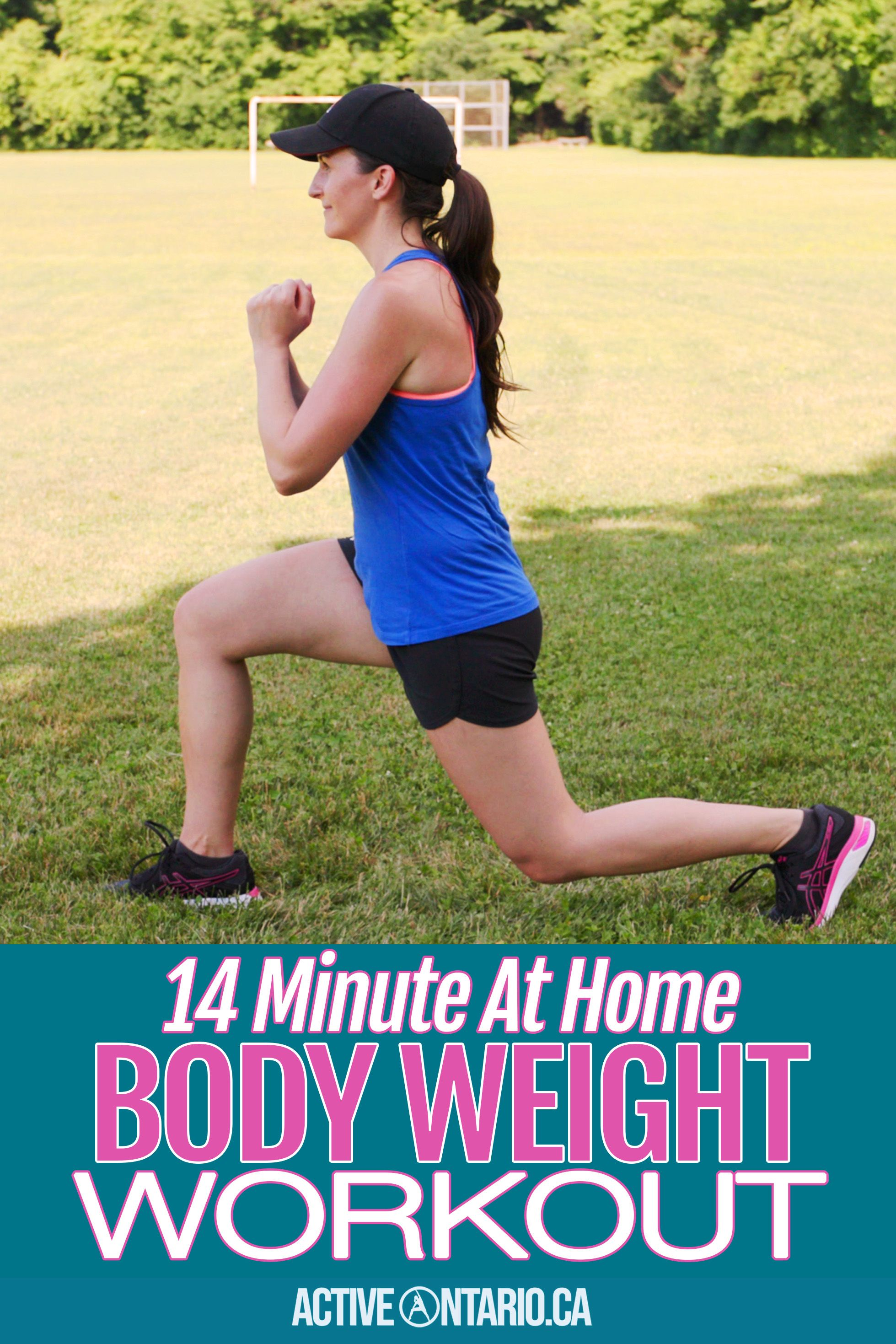 14 Minute At Home Body Weight Workout - No Equipment in ...
