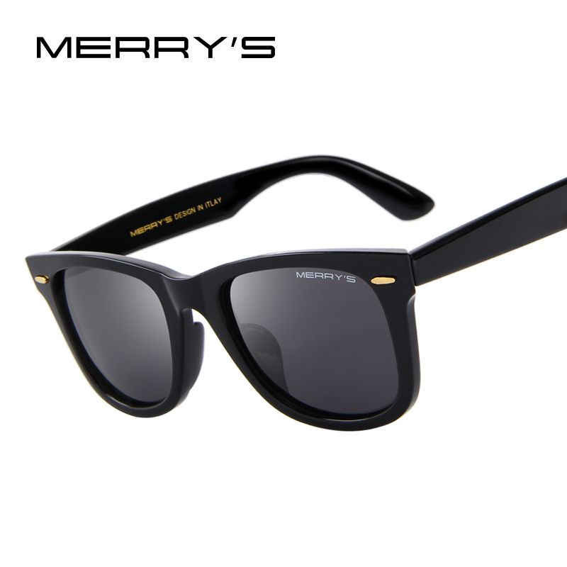 e81455420298 MERRY S DESIGN Men Women Classic Retro Rivet Polarized Sunglasses 100% UV  Protection S 8140