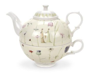 Amazon Com Portmeirion Laura Stoddard Up The Garden Path Tea For One 12 Oz Kitchen Dining Tea Pots Tea Tea For One