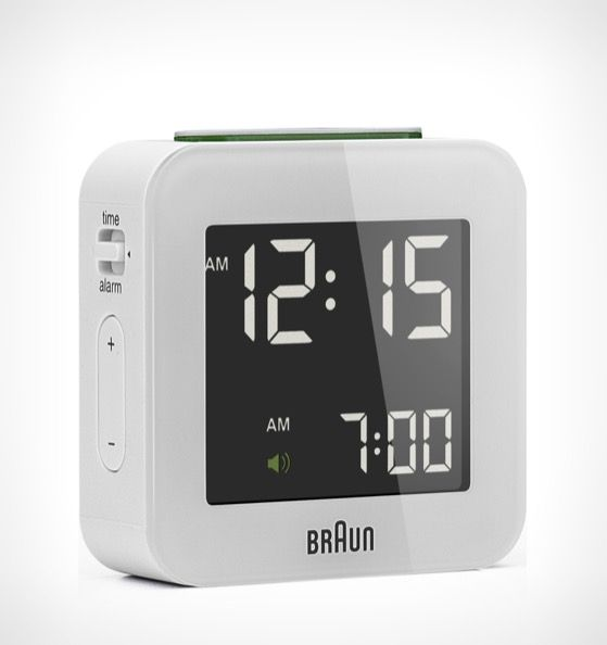 Braun S Digital Clock Collection Makes Use Of Updated Technologies Without Losing The Design Discipline Of Braun Digital Clock Design Clock Braun Digital Clock