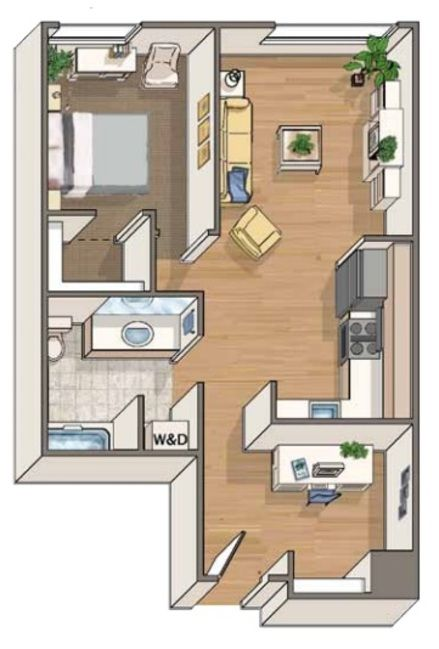 Apartments For Rent In Seattle Alley24 Floor Plans Tiny House Plans House Blueprints Sims House