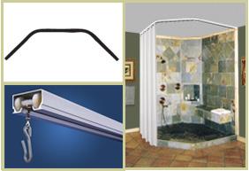 Custom Neo Angle Shower Rod With Images Neo Angle Shower Shower Curtain Rods Corner Shower Curtain Rod