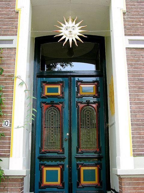 Door With A Sun Ornament Voordeur Deventer By Margriet Pr On Flickr Cc Beautiful Doors Doors Architecture