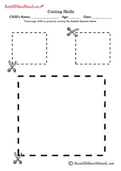 Cutting Shapes cutting squares | Sebastian pecs | Pinterest ...