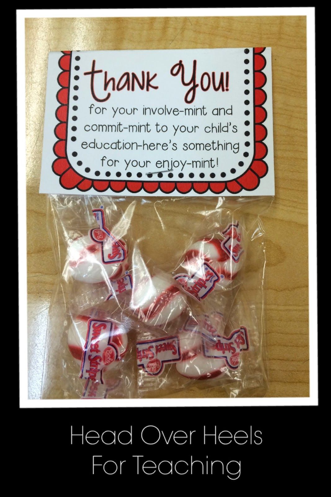 open house give parents a thank you note for their involve mint freebie