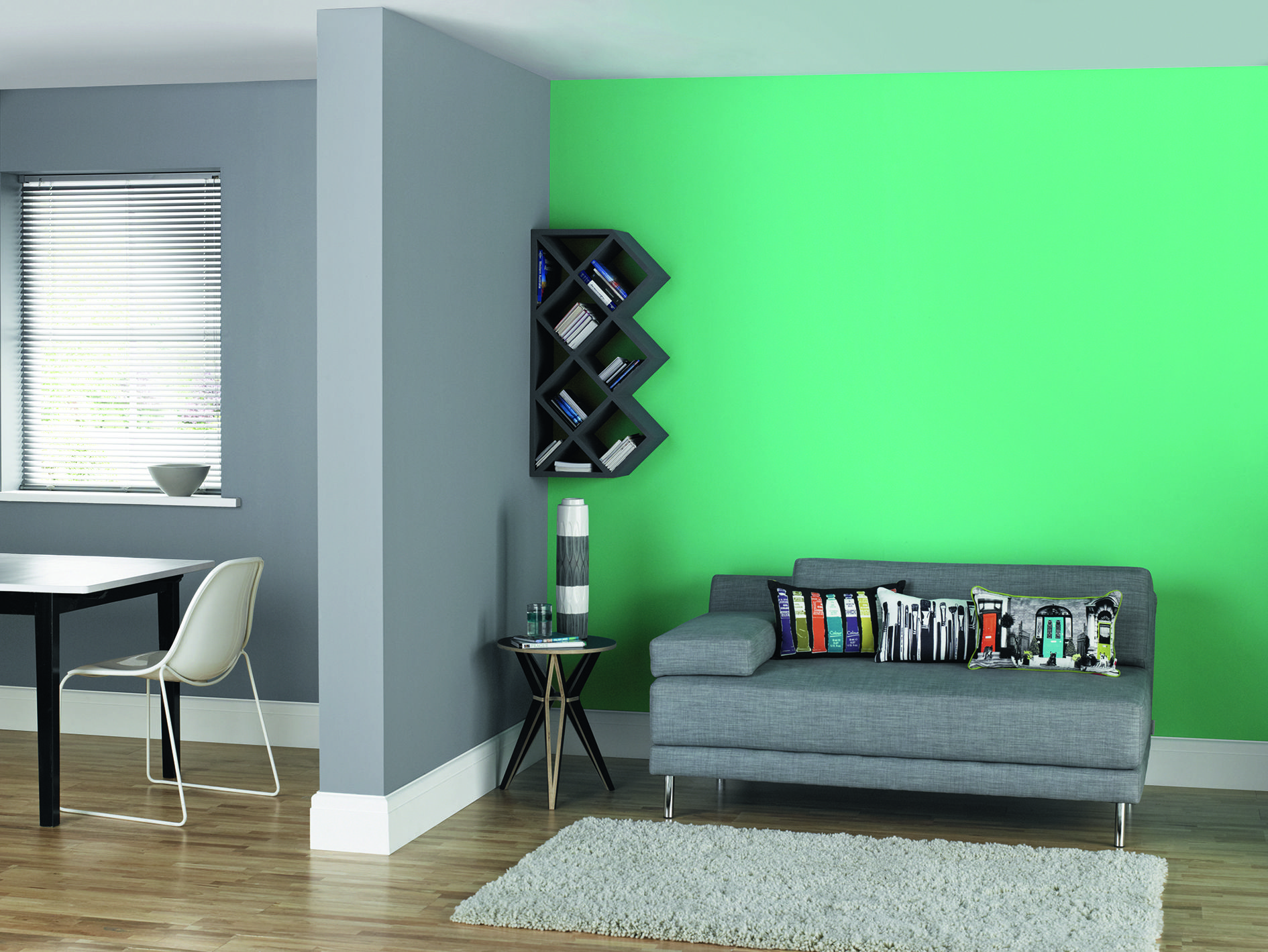 A Feature Wall Painted In Up Beat Matt Emulsion From