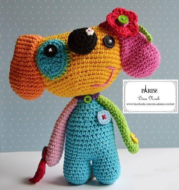dog in crochet